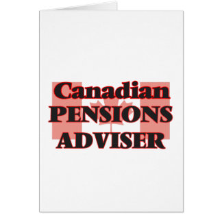 Conseiller canadien de pensions carte de vœux