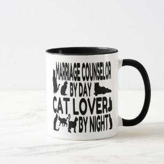 Conseiller de mariage d'amoureux des chats mug