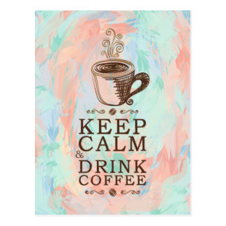 Conservez le café calme de boissons - arrière - carte postale
