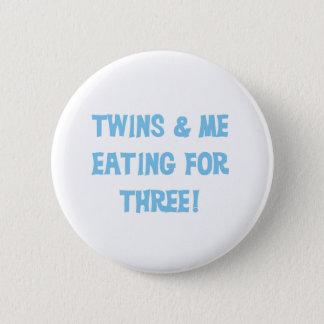 Consommation bleue pour trois badge rond 5 cm