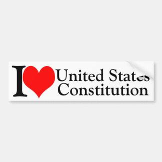 Constitution d'Etats-Unis du coeur I Autocollant De Voiture