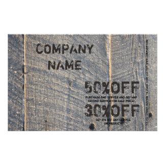 construction du bois de menuiserie de texture de prospectus 14 cm x 21,6 cm