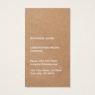 Consultant en matière blanc frais moderne de carte de visite standard
