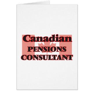 Consultant en matière canadien de pensions carte de vœux