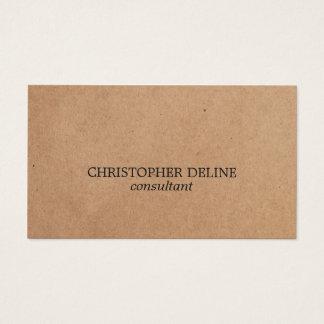 Consultant en matière élégant simple de papier cartes de visite