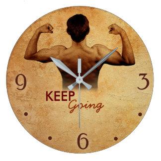 Continuez à aller - horloge murale inspirée de