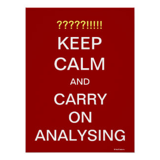 Continuez analyser le slogan de motivation d'analy affiche