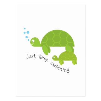 Continuez la natation carte postale