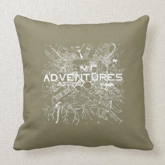 Continuez pour des aventures ! C'est temps ! Coussin
