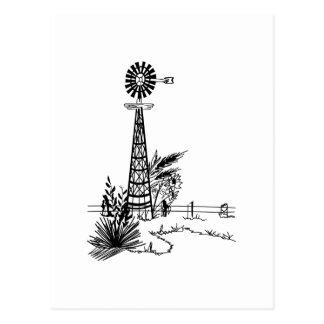 Contour de moulin à vent carte postale