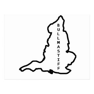 contour d'origine de bullmastiff cartes postales