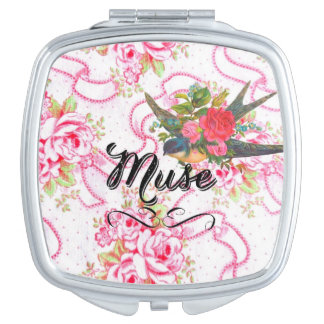 Contrat floral rose de miroir de Muse