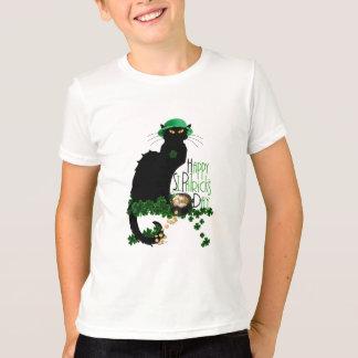 Conversation du jour de St Patrick heureux Noir T-shirts