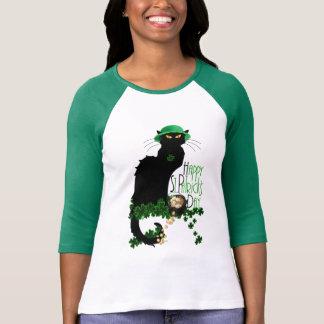 Conversation du jour de St Patrick heureux Noir Tee-shirt
