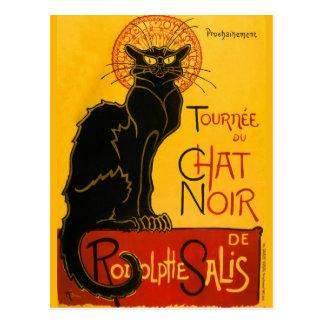 Conversation vintage Steinlen Noir de Nouveau Cartes Postales
