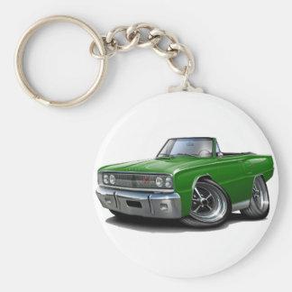 Convertible 1967 vert de Coronet droite Porte-clé Rond