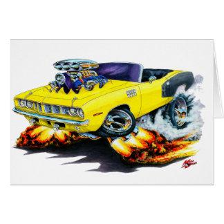 Convertible 1971 jaune de Hemi Cuda Carte