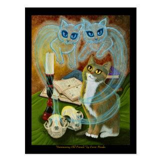 Convocation des vieux amis, carte postale d'art de