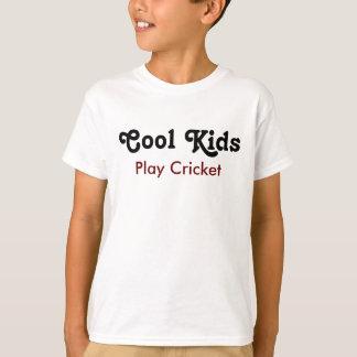 Cool Kids Play Cricket T Shirt