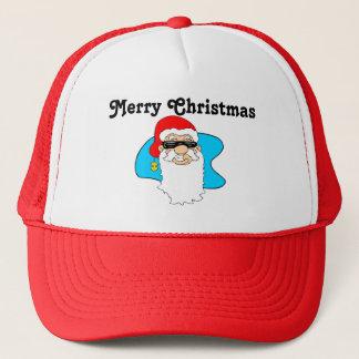 Cool Père Noël de Joyeux Noël dans des lunettes de Casquette