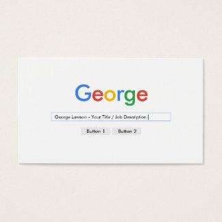 Cool simple gris moderne blanc simple cartes de visite