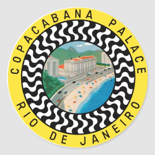 CopacabanaPalaceRio Adhésif Rond