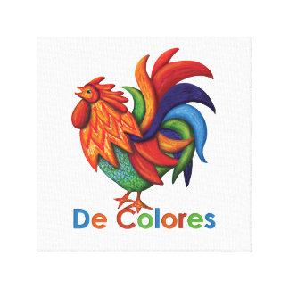 """Copie 12"""" de De Colores Rooster Gallo X12"""", 1,5"""" Toile"""