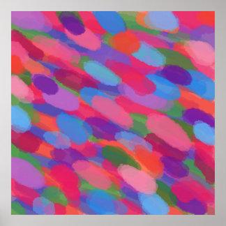 Copie abstraite colorée d'affiche de peinture de