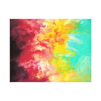 Copie abstraite de beaux-arts d'arc-en-ciel toiles