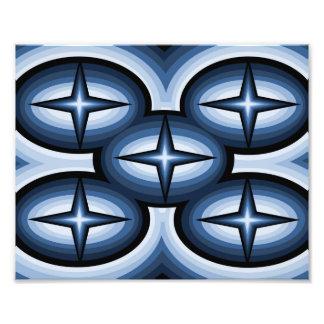 Copie abstraite de photo d'étoile bleue