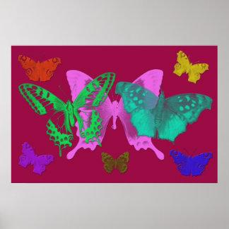 Copie abstraite de toile de papillons