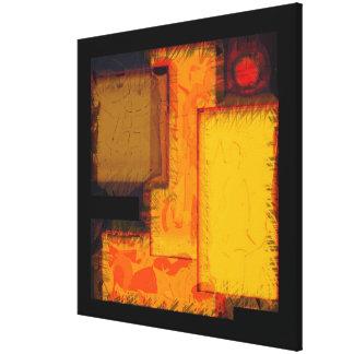 Copie abstraite urbaine de toile de blocs de ville toiles