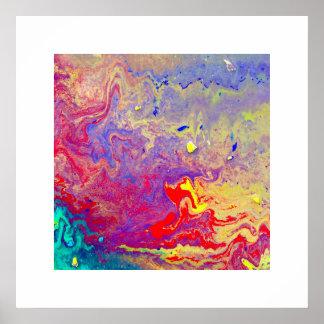 copie acrylique abstraite psychédélique