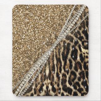 Copie animale de fourrure de faux de beau léopard tapis de souris