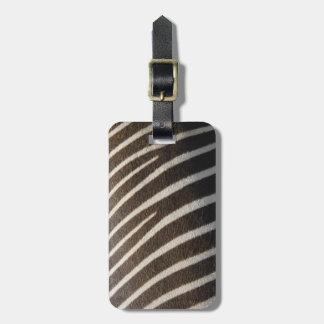 Copie animale de rayure de zèbre blanc noir de étiquette à bagage