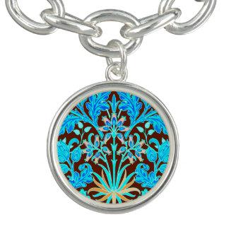 Copie, Aqua et Brown de jacinthe de William Morris Bracelets