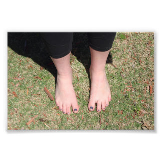 Copie aux pieds nus de photo d'extérieur