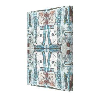 Copie bleue de beaux-arts d'abrégé sur soulagement toiles