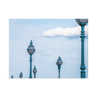 Copie bleue de toile de lampadaires