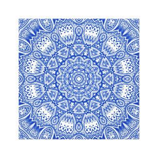 Copie bleue et blanche de toile de mandala