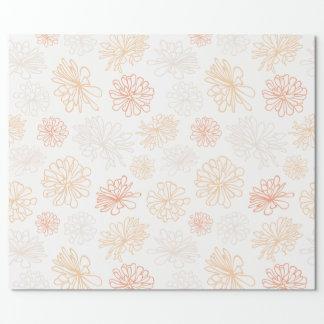 Copie botanique de jardin succulent floral de papier cadeau