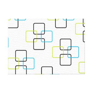 Copie carrée abstraite de toile