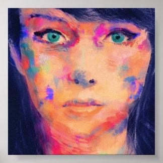 Copie colorée de beaux-arts de fille