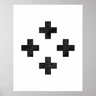 Copie croisée suisse minimaliste moderne d'art de
