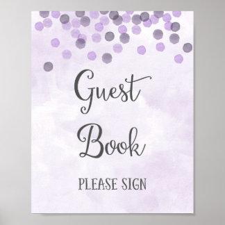 Copie d'affiche de mariage de livre d'invité poster