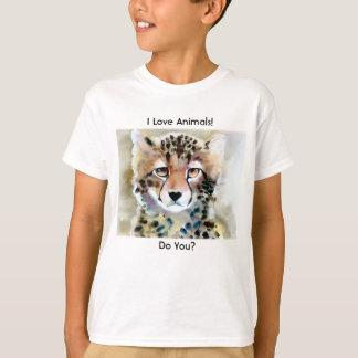 """Copie d'aquarelle de """"petit guépard"""" t-shirt"""
