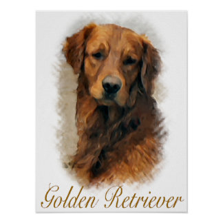 Copie d'art de cadeaux de golden retriever poster
