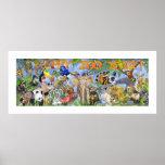 Copie d'art du mur de zoo d'année des enfants heur posters