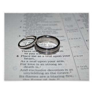 Copie de beaux-arts d'anneaux de mariage impression photo