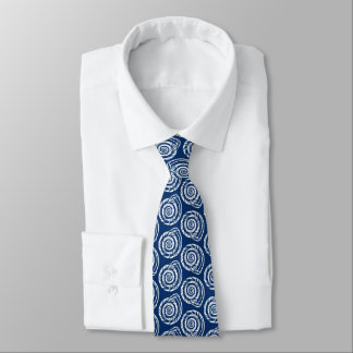 Copie de bloc de coquillage, bleu de cobalt et cravate